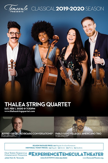 Temecula February Calendar 2020 Tickets | CLASSICAL SEASON PACKAGE 2019 2020 | Old Town Temecula