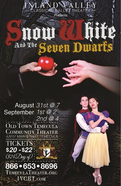 Tickets | SNOW WHITE AND THE SEVEN DWARFS BALLET | Old Town Temecula