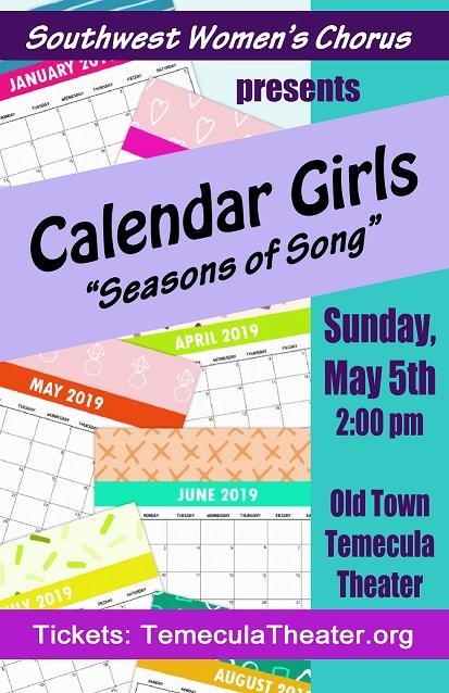 Temecula February Calendar 2019 Tickets | CALENDAR GIRLS | Old Town Temecula Community Theater