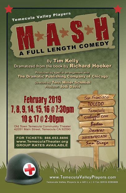Temecula February Calendar 2019 Tickets | M.A.S.H. | Old Town Temecula Community Theater